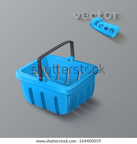 Shopping basket icon - stock vector