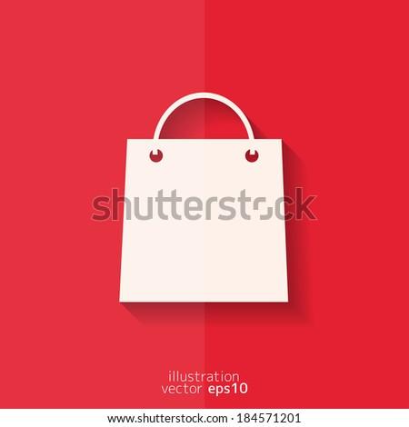 Shopping basket icon. Flat design. - stock vector