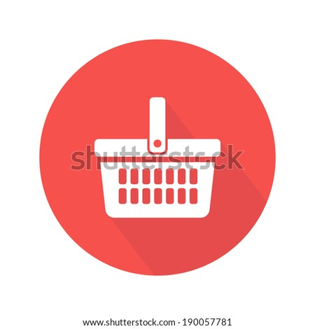 Shopping basket icon. Vector illustration - stock vector