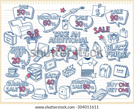 Shopping bubbles templates for your text  - stock vector