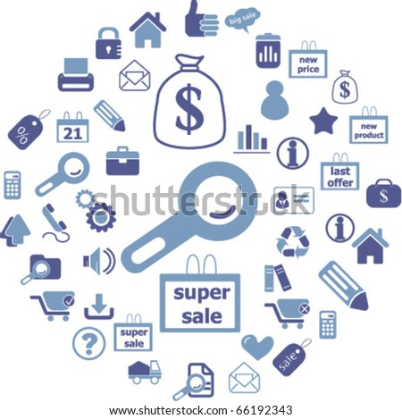 shopping & business signs. vector - stock vector