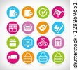 shopping buttons, shopping icon set, vector - stock vector