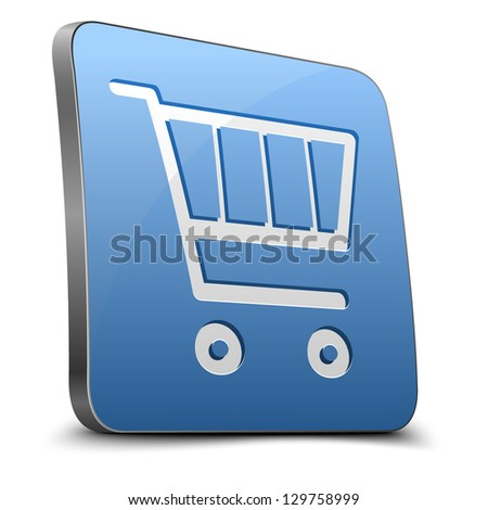 Shopping cart button - stock vector