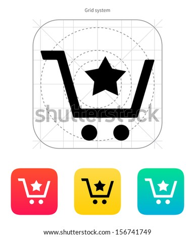 Shopping cart favorites item icon. Vector illustration. - stock vector