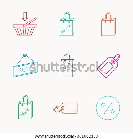 Shopping Cart Gift Bag Sale Coupon Stock Vector 573209593 ...
