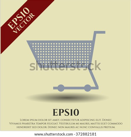 Shopping cart high quality icon - stock vector