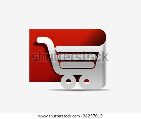 shopping cart icon, shopping basket design- vector illustration - stock vector