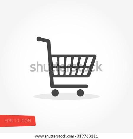 Shopping Cart Icon / Shopping Cart Icon Vector / Shopping Cart Icon Graphic / Shopping Cart Icon Art / Shopping Cart Icon JPG / Shopping Cart Icon JPEG / Shopping Cart Icon EPS / Shopping Cart Icon AI - stock vector