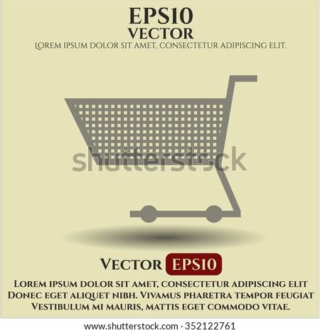 Shopping cart icon vector illustration - stock vector