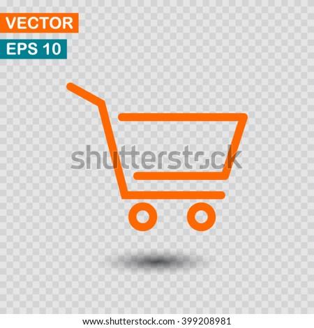 Shopping cart icon vector, shopping cart icon eps10, shopping cart icon illustration, shopping cart icon picture, shopping cart icon flat design, shopping cart icon, shopping cart web icon, cart icon - stock vector