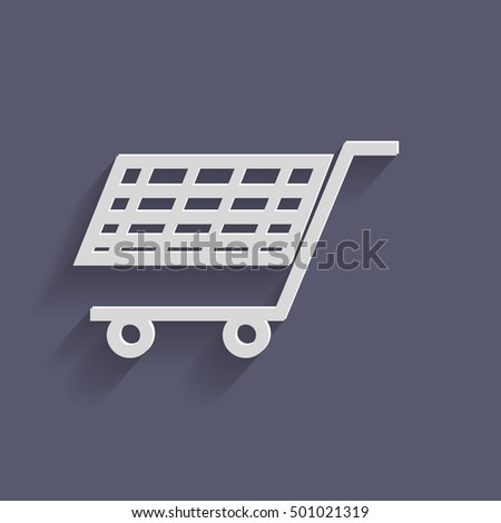 shopping cart icon. vextor illustration. cart online store, Internet shop. basket shopping