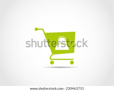 Shopping Cart Ladies - stock vector