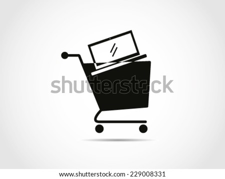 Shopping Cart Laptop