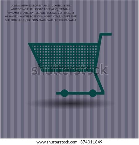 Shopping cart symbol - stock vector