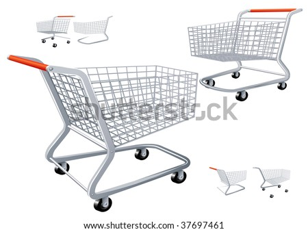 Shopping cart. Vector. - stock vector