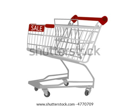 Shopping Cart - Vector - stock vector