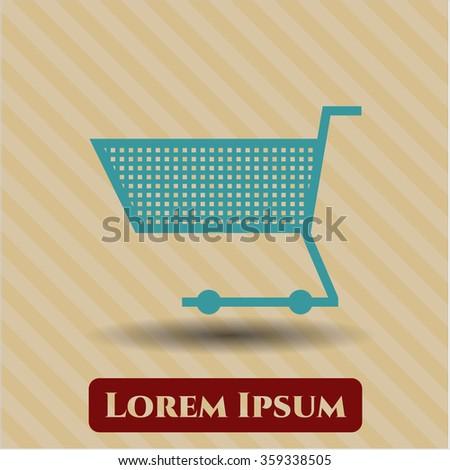 Shopping cart vector symbol - stock vector