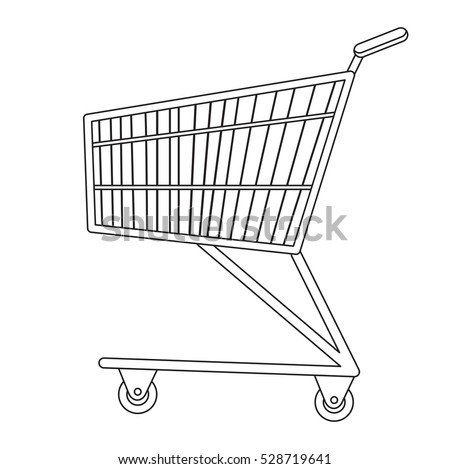 shopping carts icon line sketch doodle stock vector 2018 528719641 rh shutterstock com Pony Cart Drawings how to draw a cartoon shopping bag