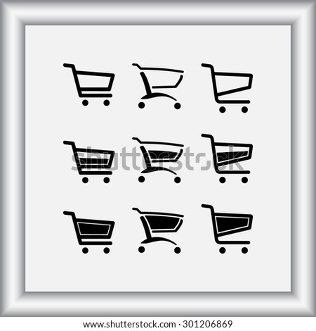Shopping carts sign icon, vector illustration. Flat design style