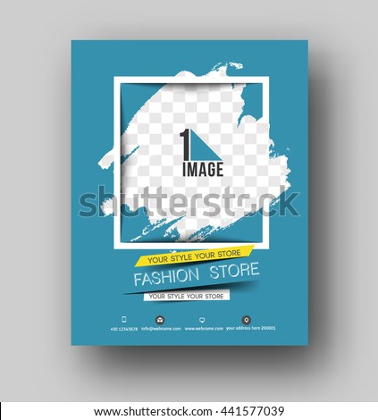 Shopping Center Store Flyer & Poster Template  - stock vector