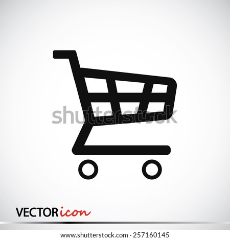 shopping chart icon - stock vector