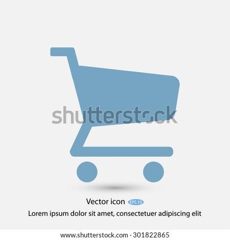 shopping chart vector icon - stock vector