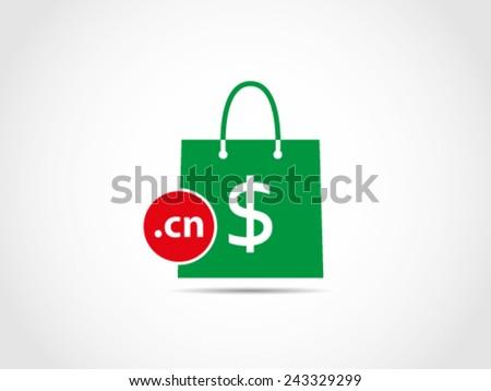 Shopping China Domain - stock vector