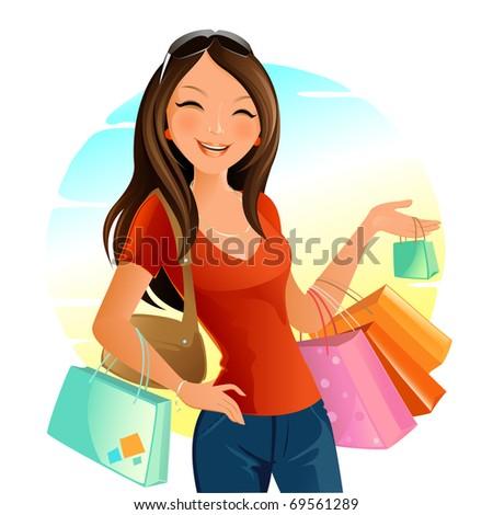 Shopping Day - stock vector