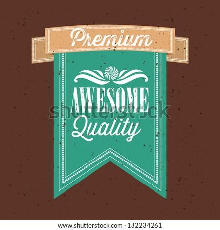 shopping design over  brown  background vector illustration - stock vector