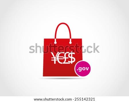 Shopping Domain Website Government - stock vector