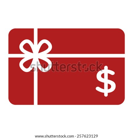 Shopping gift card / giftcard / voucher flat icon for apps and websites - stock vector