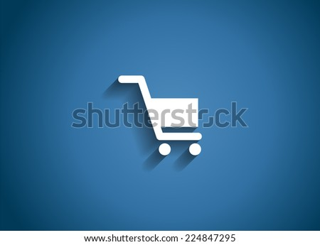 Shopping Glossy Icon Vector Illustration EPS10 - stock vector