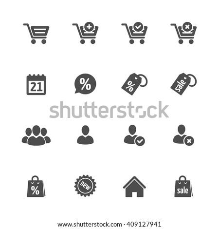 shopping 16 icon black - stock vector