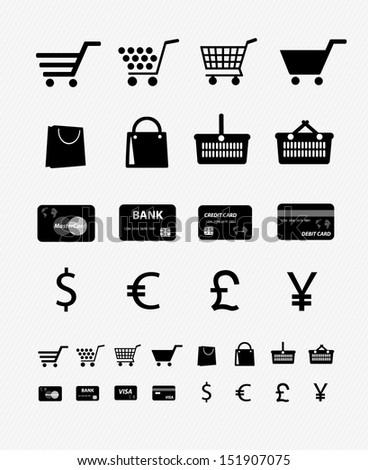 Shopping Icon set 4 - stock vector