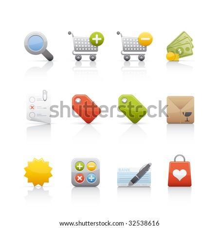 Shopping Icon Set for multiple applications. In Adobe Illustrator EPS 8. - stock vector