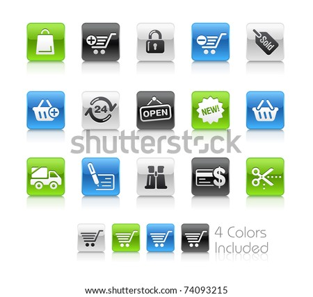 Shopping Icons // Clean Series -------It includes 4 color versions for each icon in different layers ---------