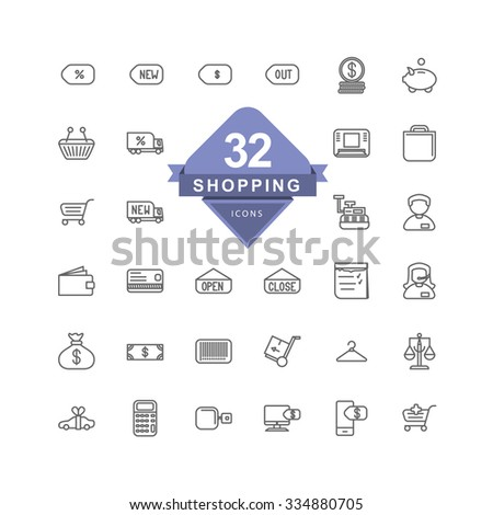 Shopping Icons ( Line Icons )