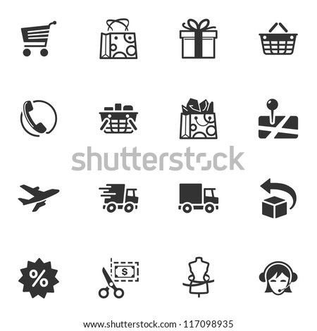 Shopping Icons - Set 1 - stock vector