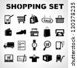 shopping icons set, e commerce set - stock photo
