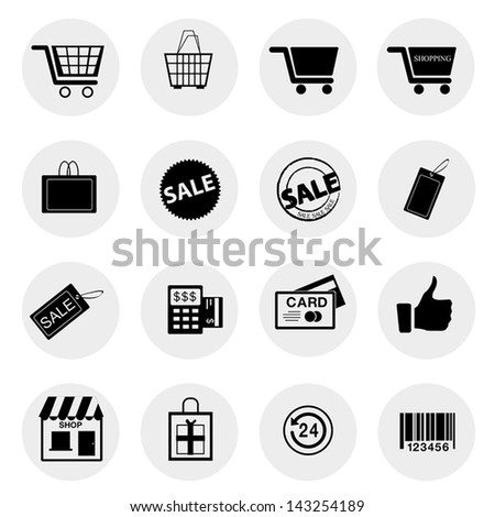 Shopping icons Vector.