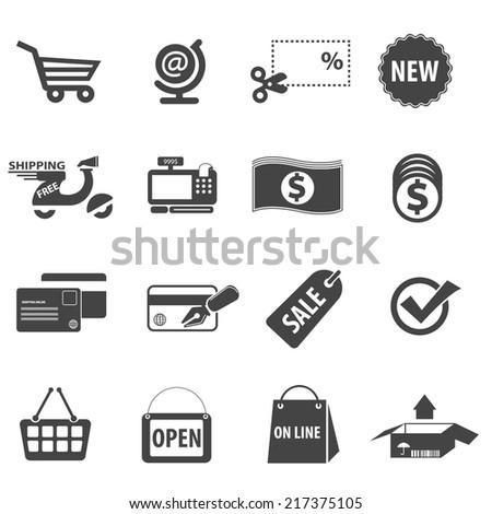 Shopping Icons Vector files. - stock vector