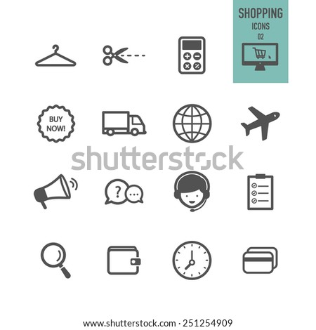 Shopping icons. Vector illustration. - stock vector