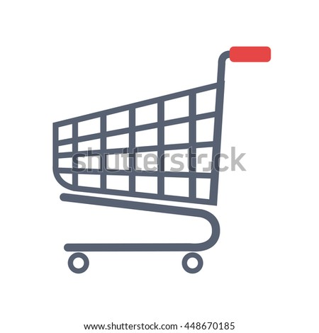 Shopping items isolated flat icon, vector illustration graphic design.
