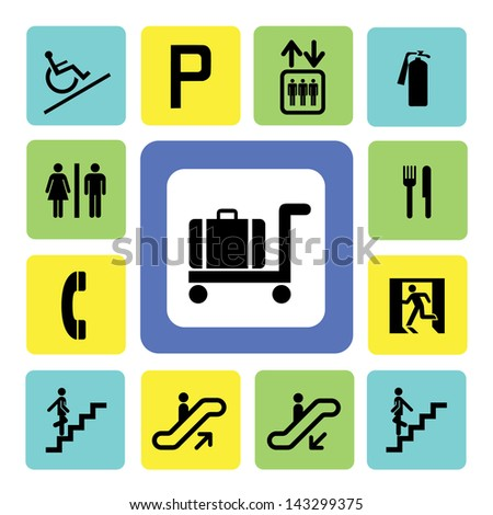 shopping mall icons set from Illustration - stock vector