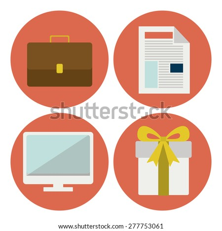 Shopping online design over white background, vector illustration