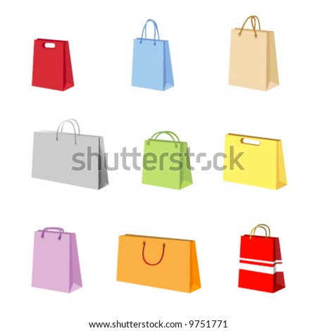shopping package vector - stock vector