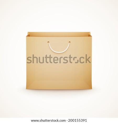 shopping paper bag on white background eps10 vector illustration - stock vector