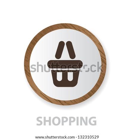 Shopping sign,vector - stock vector