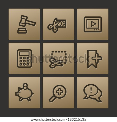 Shopping web icons, buttons set - stock vector