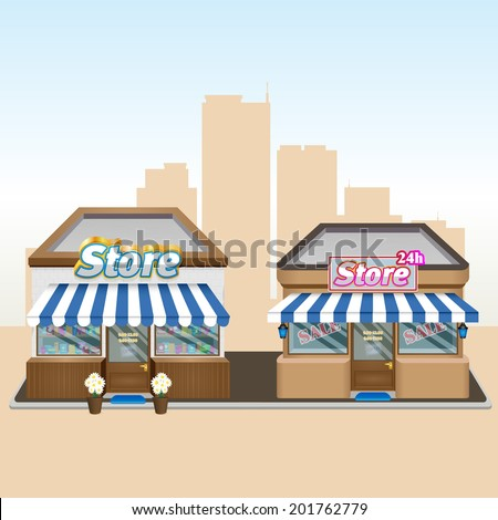 Shops. Eps 10 - stock vector